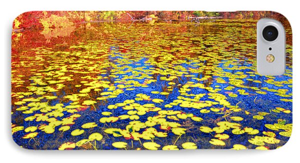 Impression Of Waterlily Pond IPhone Case by Charline Xia