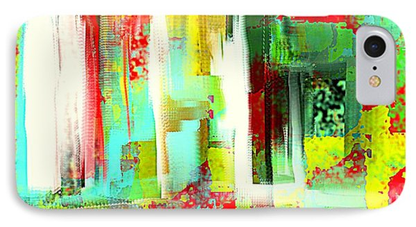 Impressionist Abstract Cityscape IPhone Case by Jessica Wright