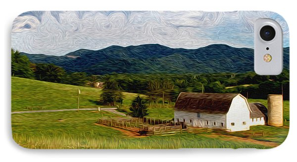 IPhone Case featuring the painting Impressionist Farming by John Haldane