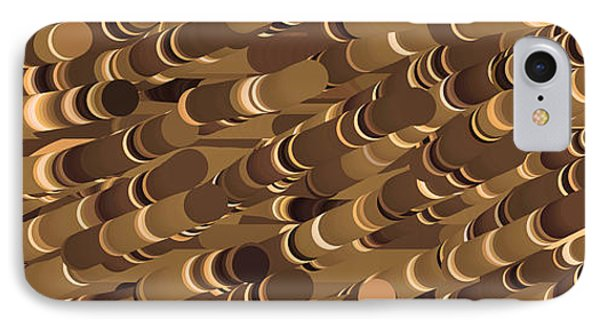 Impressionist Golden Rising Sand Castle Show Pattern Art 36x12 Horizontal Landscape Energy Graphics  IPhone Case by Navin Joshi