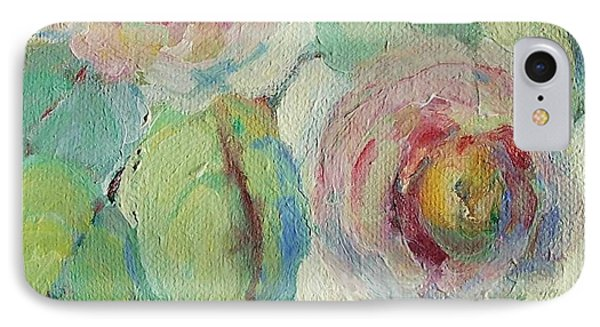 IPhone Case featuring the painting Impressionist Roses  by Mary Wolf