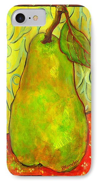 Impressionist Style Pear IPhone Case by Blenda Studio