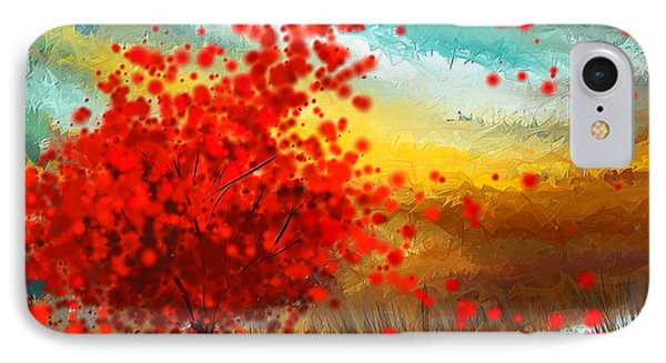 Impressionistic Beauty- Autumn Impressionist IPhone Case by Lourry Legarde