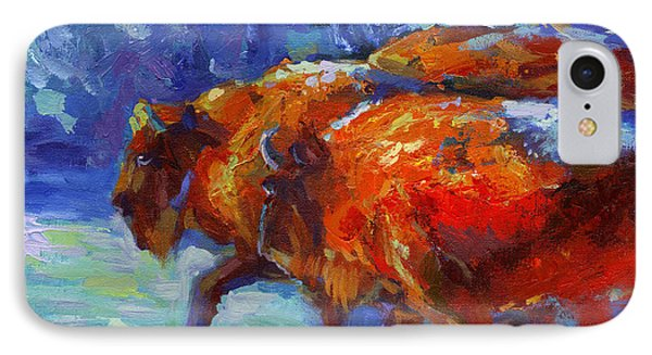 Impressionistic Buffalo Painting IPhone Case by Svetlana Novikova