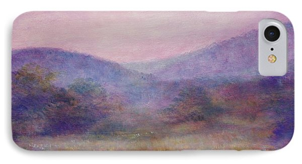 Impressionistic Foggy Summer Morning  IPhone Case by Judith Cheng