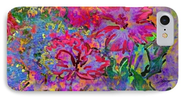 Impressionistic Magenta Hibiscus - Square IPhone Case by Lyn Voytershark