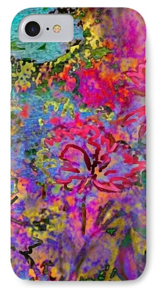 Impressionistic Magenta Hibiscus - Vertical Phone Case by Lyn Voytershark