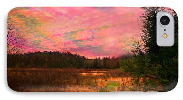 Impressionistic Morning View Of West Virginia Botanic Garden Phone Case by Dan Friend
