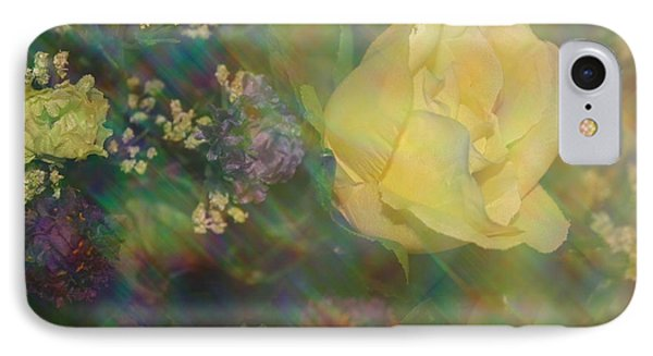 IPhone Case featuring the photograph Impressionistic Yellow Rose by Dora Sofia Caputo Photographic Art and Design