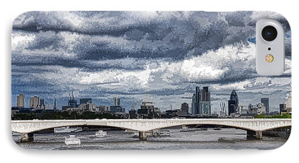 Impressions Of London - Stormy Skies Skyline IPhone Case