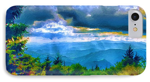 Impressions Of Waterrock Knob On The Blue Ridge Parkway IPhone Case