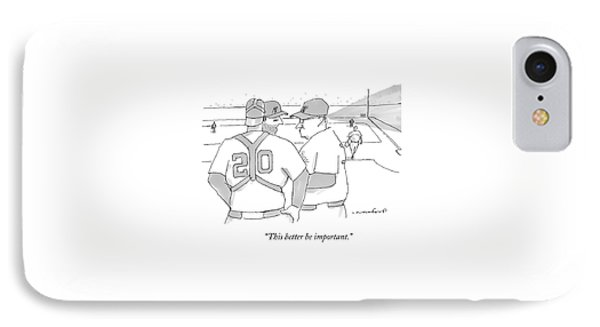 In A Baseball Game IPhone Case by Michael Crawford