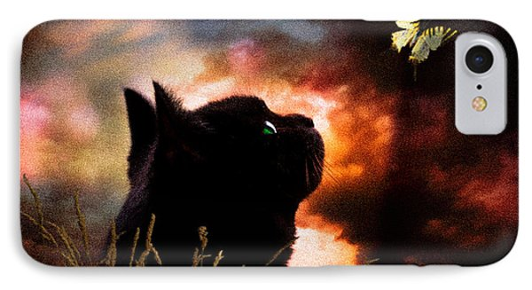 In A Cats Eye All Things Belong To Cats.  Phone Case by Bob Orsillo