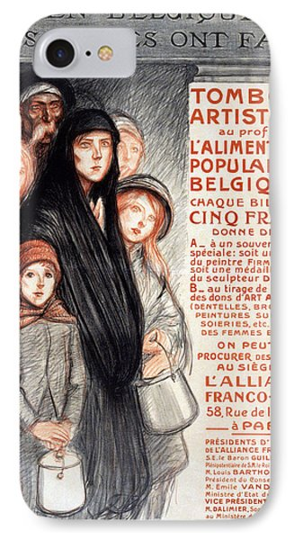 In Belgium The Belgians Are Hungry, 1915 IPhone Case by Theophile Alexandre Steinlen