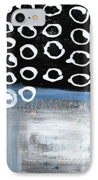 In Circles 2-abstract Painting IPhone Case by Linda Woods