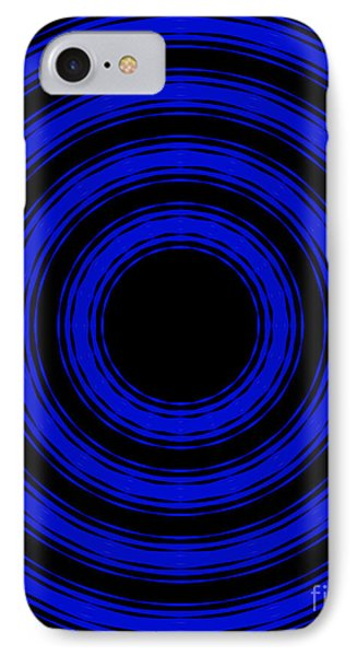 IPhone Case featuring the painting In Circles- Blue Version by Roz Abellera Art