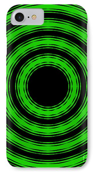 IPhone Case featuring the painting In Circles-green Version by Roz Abellera Art