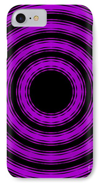 IPhone Case featuring the painting In Circles-purple Version by Roz Abellera Art