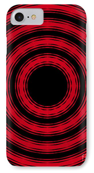 IPhone Case featuring the painting In Circles- Red Version by Roz Abellera Art