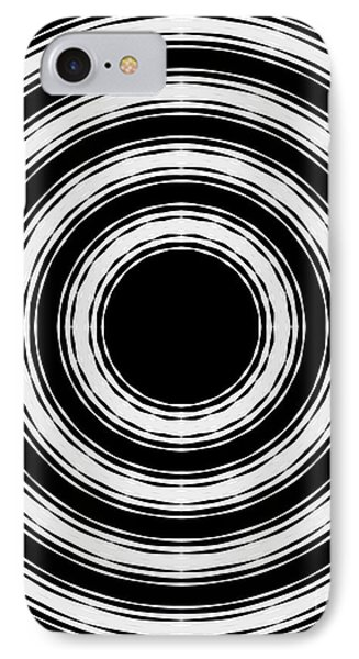 IPhone Case featuring the painting In Circles by Roz Abellera Art