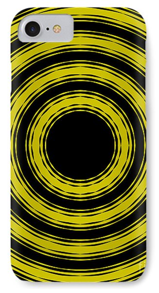IPhone Case featuring the painting In Circles- Yellow Version by Roz Abellera Art