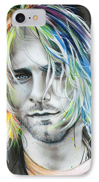 Kurt Cobain - ' In Debt For My Thirst ' IPhone 7 Case by Christian Chapman Art