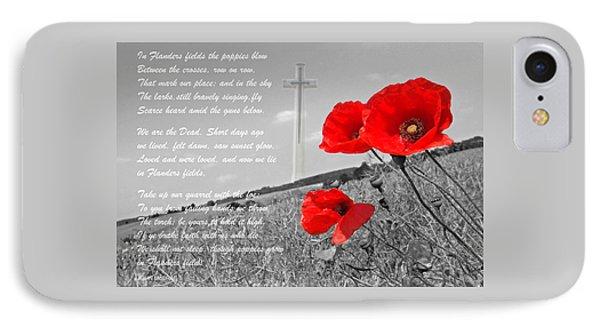 In Flanders Fields IPhone Case by Gill Billington