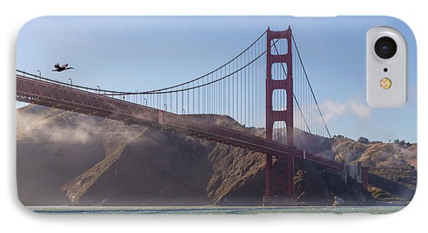In Flight Over Golden Gate Phone Case by Scott Campbell