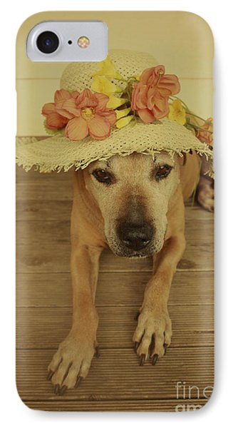 In Her Easter Bonnet IPhone Case by Elaine Teague