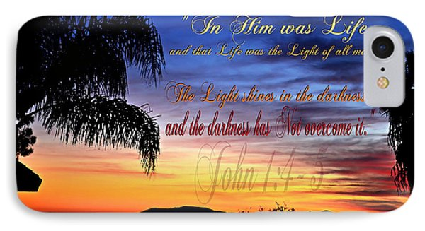 In Him Was Life IPhone Case by Sharon Soberon