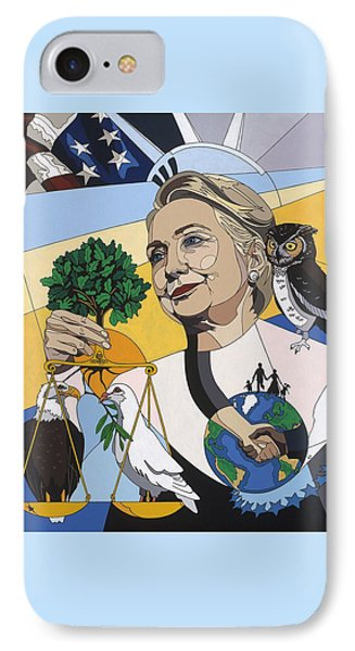 In Honor Of Hillary Clinton IPhone Case by Konni Jensen