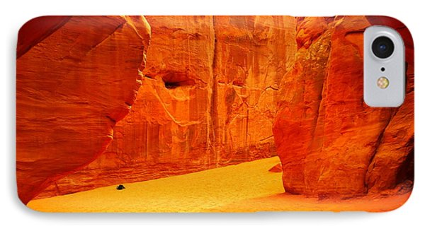 In Orange Chasms Phone Case by Jeff Swan