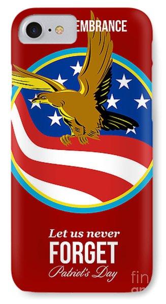 In Remembrance Patriots Day Retro Poster Phone Case by Aloysius Patrimonio