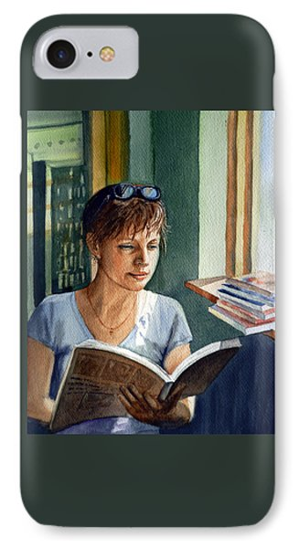 In The Book Store IPhone Case by Irina Sztukowski
