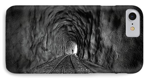 In The Bowels Of The Mountain-bw IPhone Case