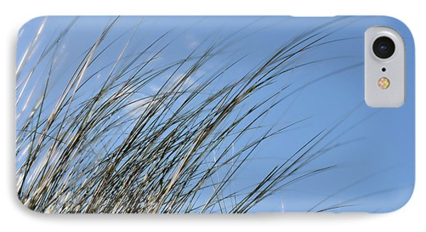 In The Breeze - Soft Grasses By Sharon Cummings IPhone Case