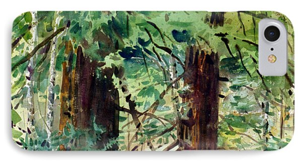 IPhone Case featuring the painting In The Canopy by Donald Maier