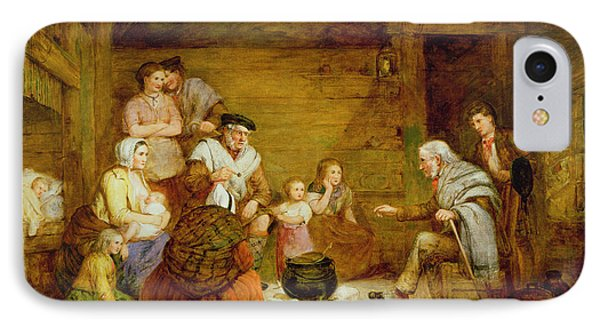 In The Crofters Home, 1868 IPhone Case by Alexander Leggett