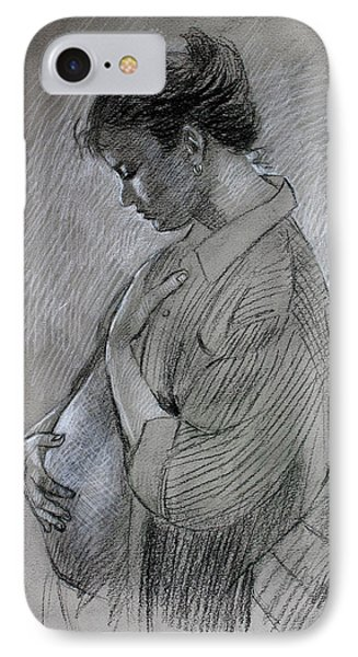 IPhone Case featuring the drawing In The Family Way by Viola El