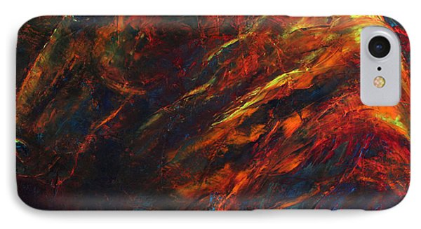IPhone Case featuring the painting In The Fire by Jennifer Godshalk