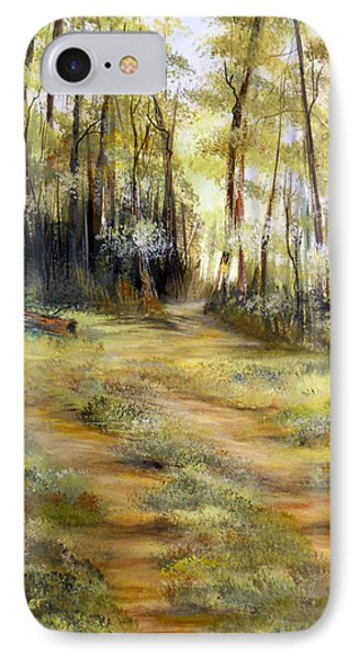 IPhone Case featuring the painting In The Forest by Dorothy Maier
