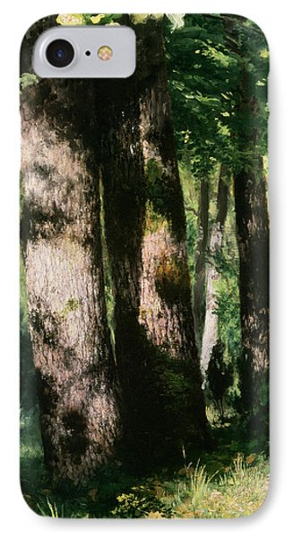In The Forest Of Fontainebleau Phone Case by Pierre Auguste Renoir