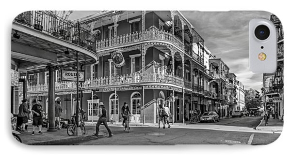 In The French Quarter Monochrome Phone Case by Steve Harrington