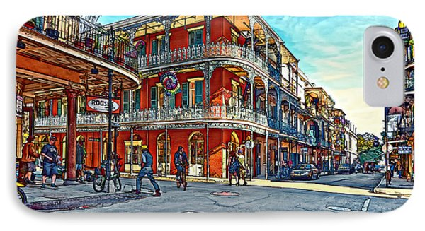 In The French Quarter Painted Phone Case by Steve Harrington