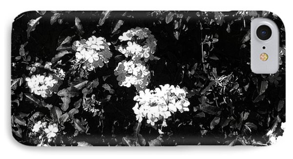 IPhone Case featuring the photograph In The Garden- Black And White by Alohi Fujimoto