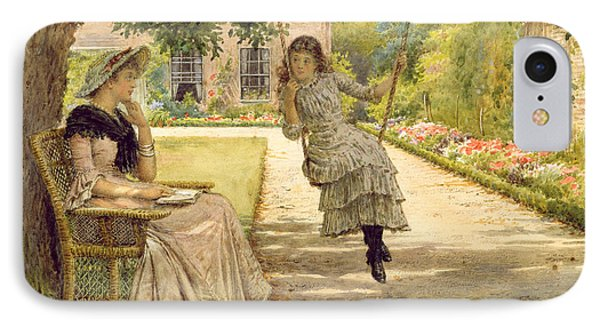 In The Garden IPhone Case by George Goodwin Kilburne
