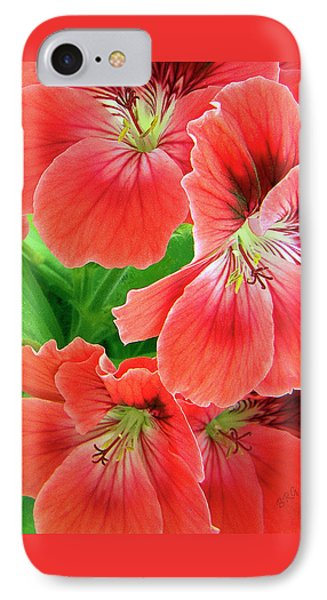 In The Garden. Geranium Phone Case by Ben and Raisa Gertsberg