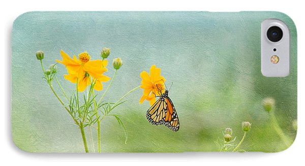 In The Garden - Monarch Butterfly Phone Case by Kim Hojnacki