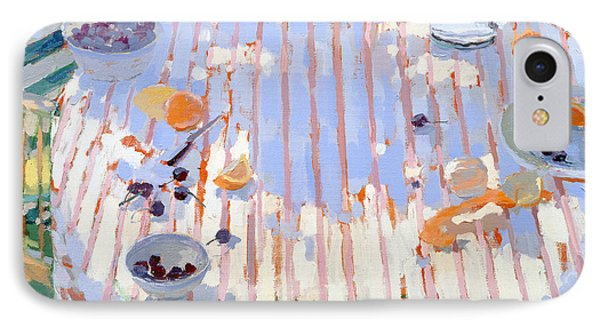 In The Garden Table With Oranges  IPhone Case by Sarah Butterfield