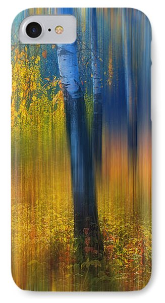 In The Golden Woods. Impressionism Phone Case by Jenny Rainbow